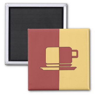 Burgundy and Gold Cup Magnet
