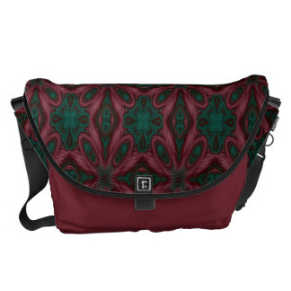 Burgundy and Green Floral Commuter Bags