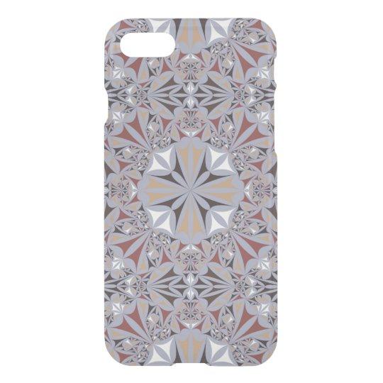 Burgundy and Grey Elegant Pattern iPhone 7 Case
