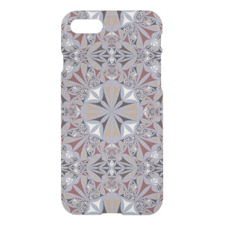 Burgundy and Grey Elegant Pattern iPhone 8/7 Case