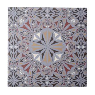 Burgundy and Grey Elegant Pattern Tiles