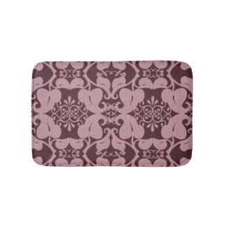 Burgundy And Pink Modern Elegant Bath Mat