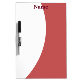 Burgundy and White Dry Erase Board