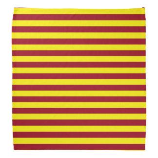 Burgundy and Yellow Stripes Bandana