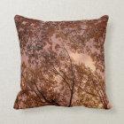 'Burgundy Autumn Abstract'  Throw Pillow
