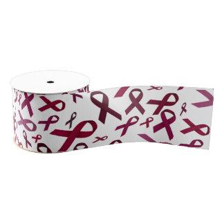 Burgundy Awareness Ribbon Grosgrain Ribbon