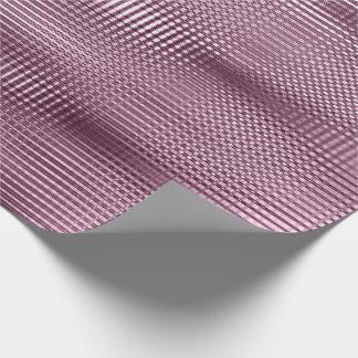 Burgundy Beetrot Metallic Grill Stripe Minimal Lux Wrapping Paper