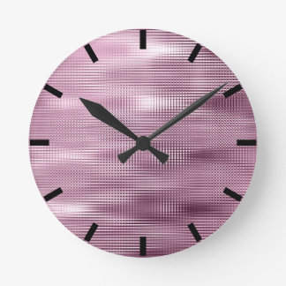 Burgundy Black Bordeaux Metallic Abstract Lux Round Clock