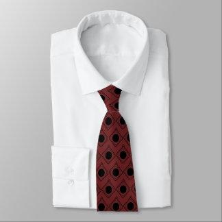 Burgundy & Black Boxed In Tie