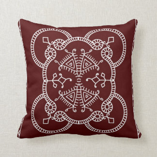 Burgundy Bliss Throw Pillow