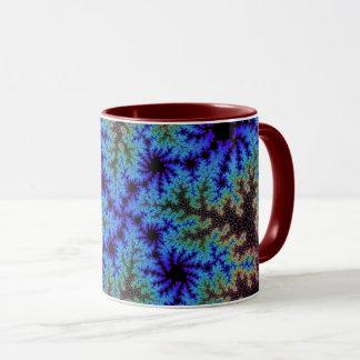 Burgundy Blue Speckle Mug