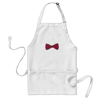 Burgundy Bow Tie Bowtie Groom Wedding Prom Fashion Standard Apron