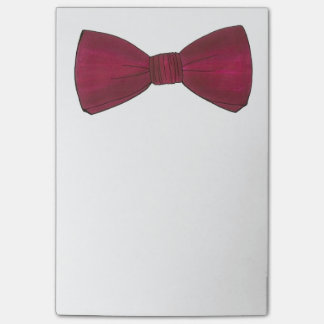 Burgundy Bow Tie Bowtie Groom Wedding Prom Post-It Post-it Notes