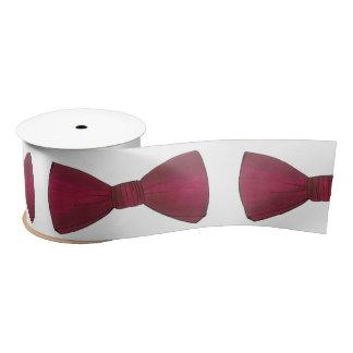 Burgundy Bow Tie Bowtie Groom Wedding Prom Ribbon Satin Ribbon