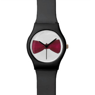 Burgundy Bow Tie Bowtie Menswear Formal Watch