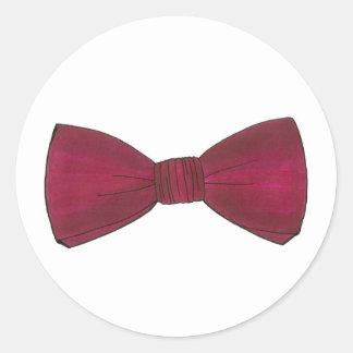 Burgundy Bow Tie Bowtie Wedding Prom Sticker