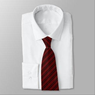 Burgundy Corporate Black Striped Pattern Tie