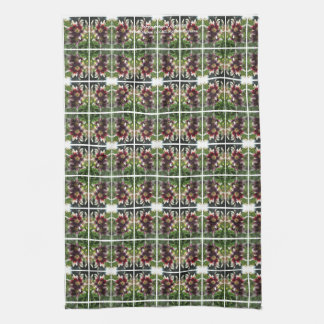 Burgundy Creme Asiatic Lily kitchen towel