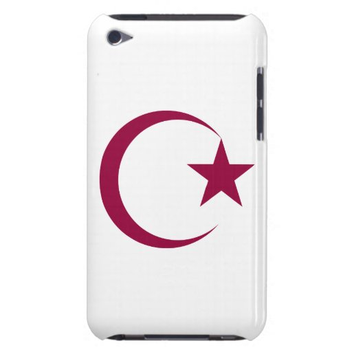 Burgundy Crescent & Star.png iPod Touch Covers