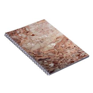 Burgundy Crimson Stoney Pebble Marble finish Notebook