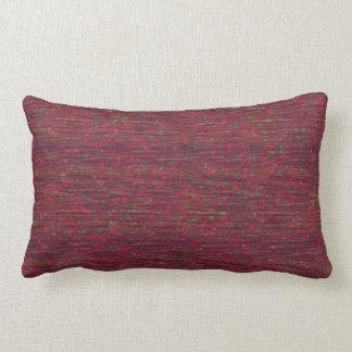 Burgundy Crinkle Texture Print Lumbar Pillow
