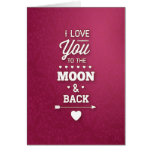 Burgundy Damask Abstract Valentine Card
