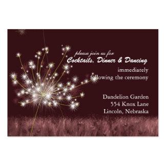 Burgundy Dandelion Wedding Reception 3 5x2 5 Business Card