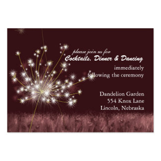 Burgundy Dandelion Wedding Reception (3.5x2.5) Pack Of Chubby Business Cards