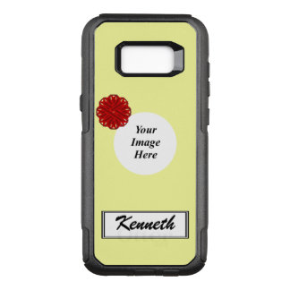 Burgundy Flower Ribbon Template by Kenneth Yoncich OtterBox Commuter Samsung Galaxy S8+ Case
