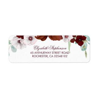 Burgundy Flowers Elegant Wedding