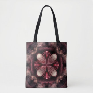 Burgundy Fractal Tote Bag