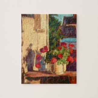 Burgundy Geraniums Jigsaw Puzzle