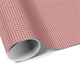 Burgundy Gingham-GIFT WRAPPING PAPER
