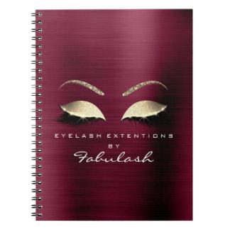 Burgundy Gold Glitter Eyes Makeup Beauty Luxury1 Notebook