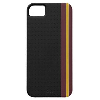 Burgundy & Gold Stripe iPhone 5 Case
