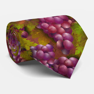 Burgundy Grapes Wine Lover Tie