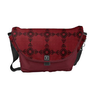 Burgundy Heartstrings Rickshaw Messenger Bag
