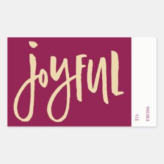 Burgundy Joyful To From Sticker