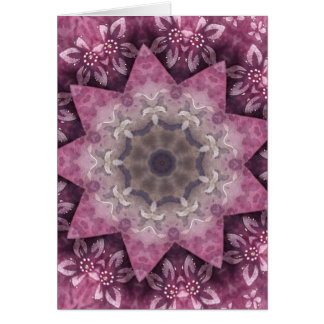 Burgundy Magenta Circular Spiked Pattern Card