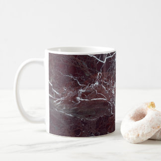 Burgundy marble coffee mug