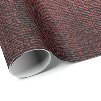 Burgundy Maroon Black Metallic Brush Makeup Vip Wrapping Paper