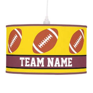 Burgundy Maroon Red Football Custom Team Name Lamp