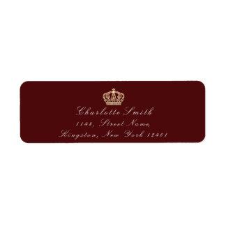 Burgundy Maroon Sepia RSVP Crown Princess Bridal
