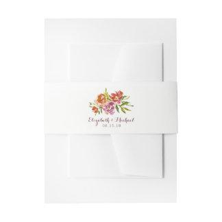 Burgundy Marsala Fall Floral Wedding Invitation Invitation Belly Band
