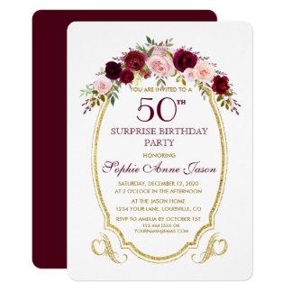 50th Birthday Invitations Announcements Zazzle Canada