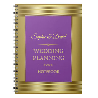 Burgundy Marsala Floral Fall Wedding Planner Spiral Notebook