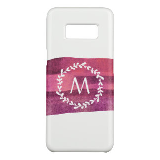 Burgundy Marsala Watercolor Monogram Case-Mate Samsung Galaxy S8 Case