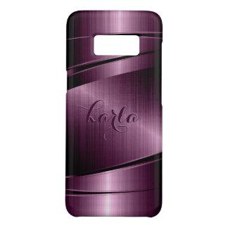 Burgundy Metallic Texture Print Monogram Case-Mate Samsung Galaxy S8 Case
