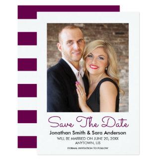 Burgundy   Minimal Save The Date Photo Card