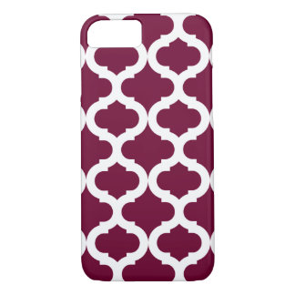 Burgundy Moroccan Pattern iPhone 7 Case